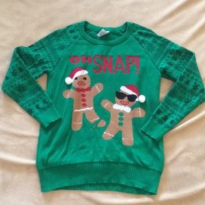 Ugly Xmas Sweater Oh Snap Size S